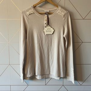 NWT Knox Rose Target Thermal Lace Long Sleeve Top